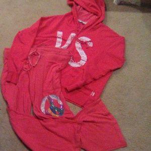 VS Pink swearshirt and pants